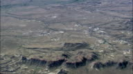 Arid Landscape By Yellowstone River  - Aerial View - Montana, Prairie County, United States video
