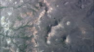 Arid Landscape With Small Creeks  - Aerial View - Montana, Custer County, United States video