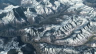 Ariel view over the Himalayas. video