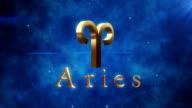 Aries (Zodiac Air Signs)   Loopable video