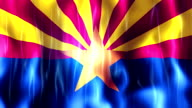 Arizona State Flag Animation video