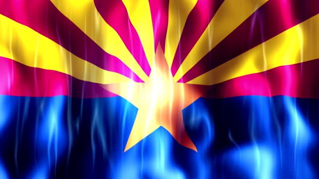 Arizona State Flag Animation video