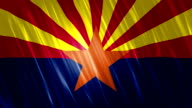 Arizona State Loopable Flag video