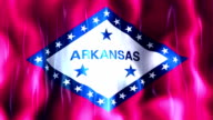 Arkansas State Flag Animation video