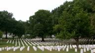 Arlington Cemetery - tilt up video
