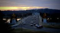 Arlington Memorial Bridge at Dusk Time Lapse video