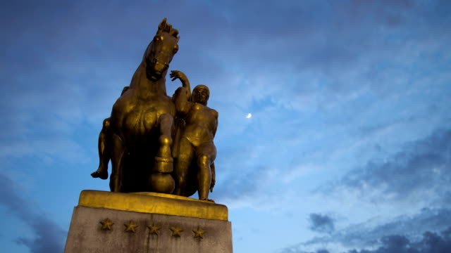 Arlington Memorial Bridge Statue Time Lapse video