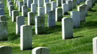 Arlington National Cemetery in Spring Medium Angle of Graves video