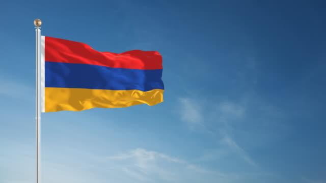 4K Armenia Flag - Loopable video