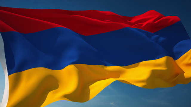 Armenia Flag - Loopable video