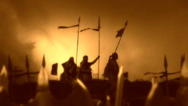 Army of Christian Warriors Preparing for Battle video