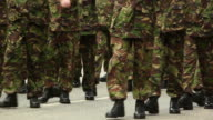 Army Soldiers Marching towards camera - HD & PAL video