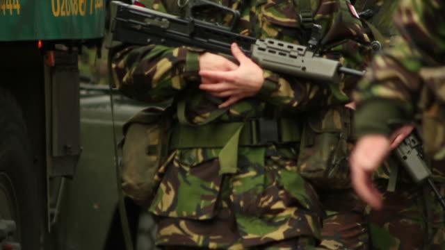Army soldiers on patrol - HD & PAL video