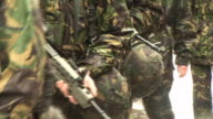 Army Soldiers with Guns 1 - HD video