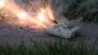 Army tank fireworks video
