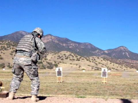 US Army weapons firing range video