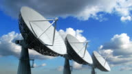 Array of satellite dishes video
