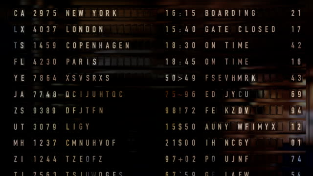Arrival Departure Board video