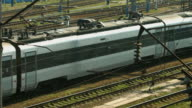 Arrival of high-speed train. video