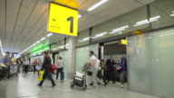 Arrivals 1 at Schiphol Airport video