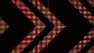 Arrows Lights Bulbs Animation, Rendering, Background, Loop video