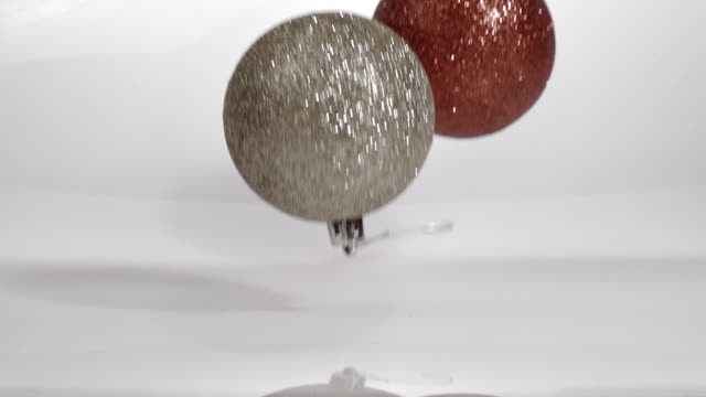 Art Abstract Background Two objects Bouncing Glitter ornaments video