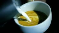 Art latte heart shape video