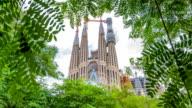 Art Nouveau church Sagarada Familia Barcelona video