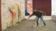 Art Performance in Street Alley video