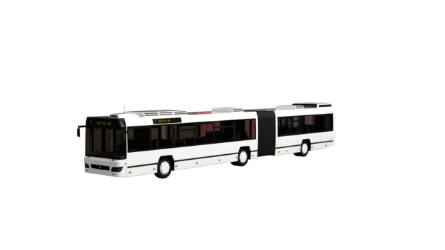 Articulated bus spin with luma matte video