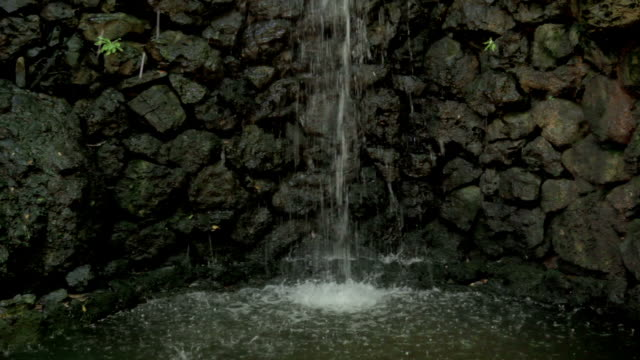 Artificial waterfall, Sound video