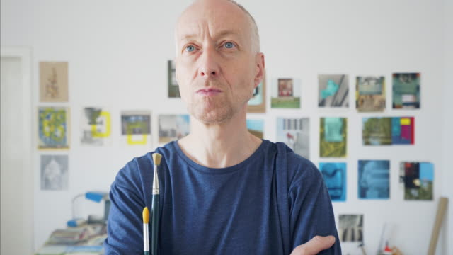 Artist analyzes his work. video