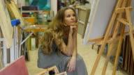 Artist in studio (HD) video