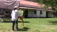 Artist painting video