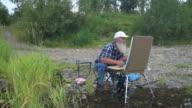 Artist river nature video