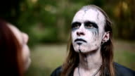 Artistic makeup for footages actors about Paganism. video