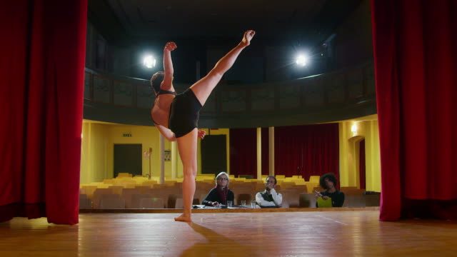 Arts, entertainment, show business, ballet, theater, people, stage, audition, dancer video
