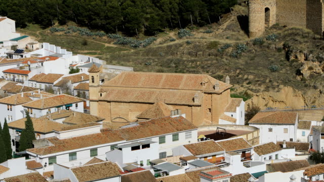 Ascending view on Alcazaba fortress in Antequera video