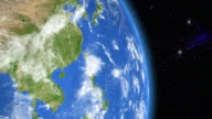 Asia from space video