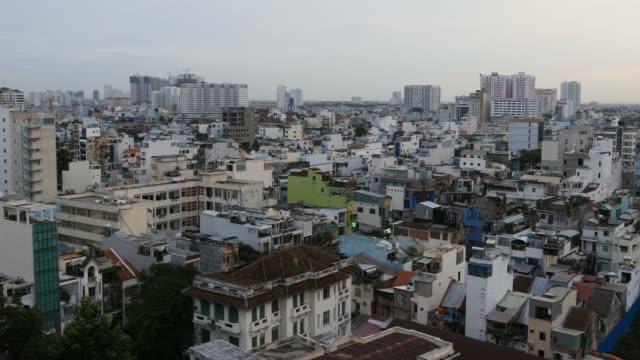HO CHI MINH / SAIGON, VIETNAM - 2015: Asia growth buildings offices apartments video