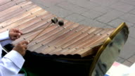 Asian Boy Playing A Wooden Xylophone video