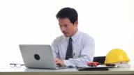 Asian businessman found serious problem video