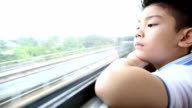 Asian child Face On A Train, video