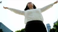 Asian Chinese Female Broker Celebrating Business Achievements video