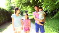 Asian Family Enjoying Walk In Countryside video