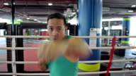 Asian fighter shadow boxing video