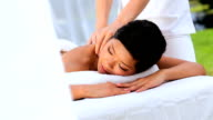 Asian Girl Enjoying Spa Massage video