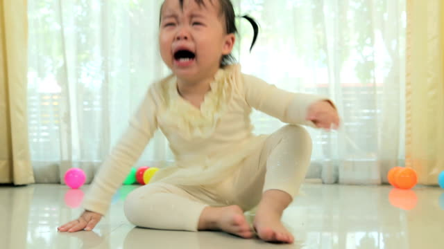 Asian little girl crying video