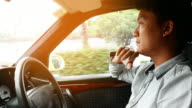 Asian man driving his car video