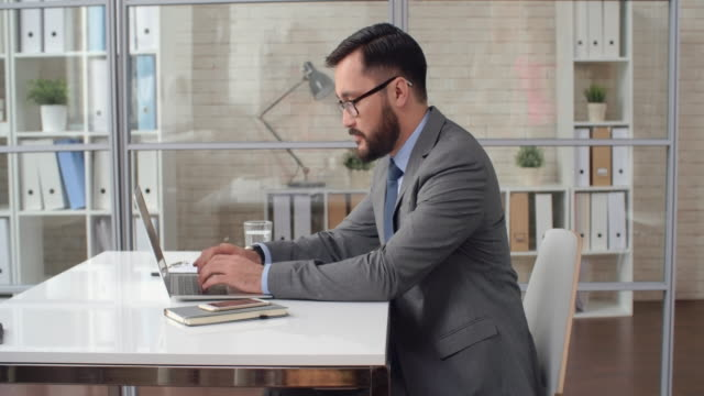 Asian Manager at Workplace video